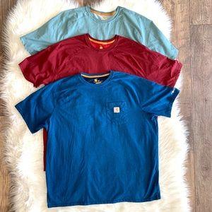 3 Set Carhartt Mens Relaxed Fit t-shirts Sz 2XL